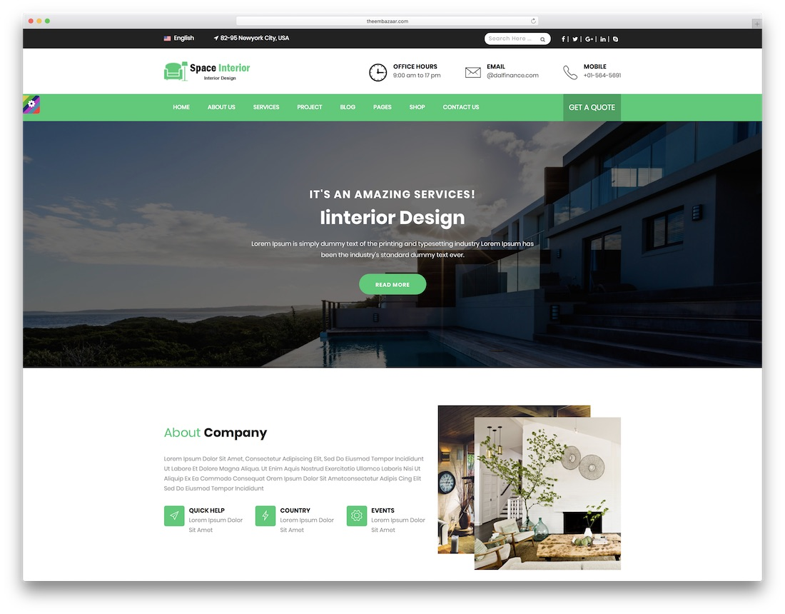space-interior-design-website-template